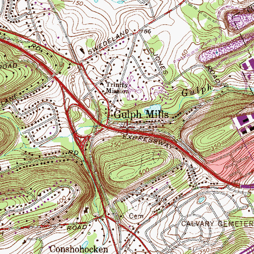 Topographic Map of Reverand John T Sheehan Hall, PA