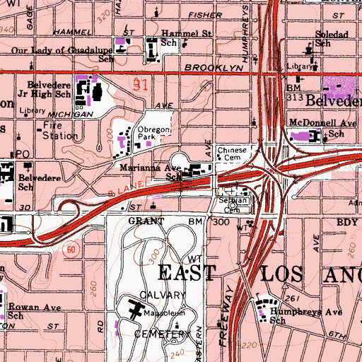 Topographic Map of Exit 3B, CA