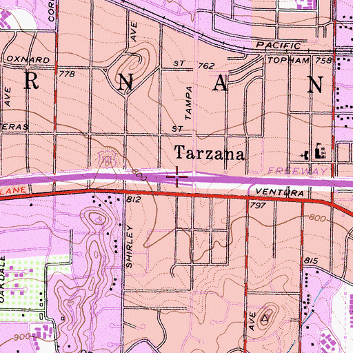 Topographic Map of Exit 24, CA