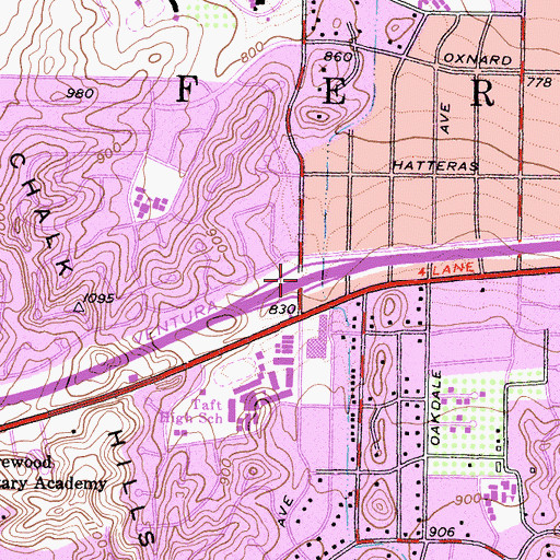 Topographic Map of Exit 25, CA