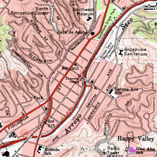 Topographic Map of Exit 27, CA
