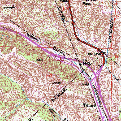 Topographic Map of Exit 162, CA