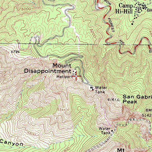 Topographic Map of Nike Site LA-09C (historical), CA