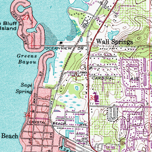 Topographic Map of Palm Harbor Fire and Rescue Station 68, FL