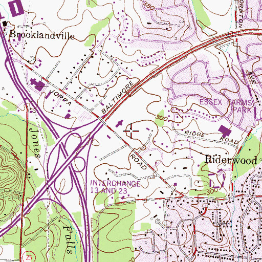 Topographic Map of Dayspring Christian Academy, MD