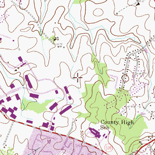 Topographic Map of The Goddard School, MD