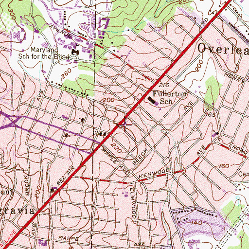 Topographic Map of Saint Michael the Archangel School, MD