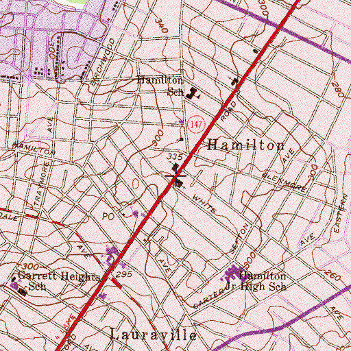 Topographic Map of Open Bible Day School, MD