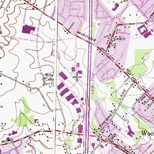 Topographic Map of Florence Bertell Academy, MD