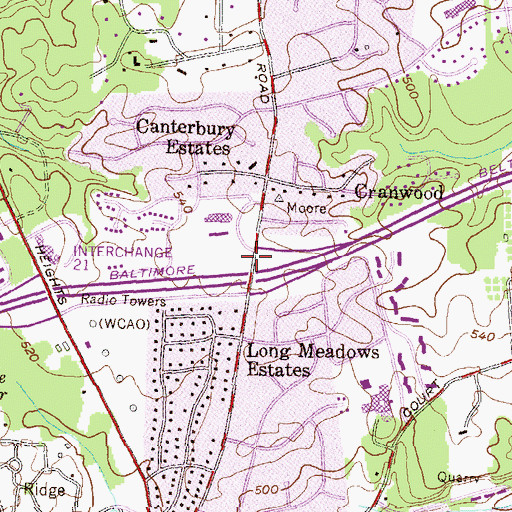 Topographic Map of Goldsmith Early Childhood Education Center, MD