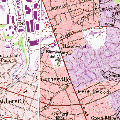 Topographic Map of Lutherville Laboratory School, MD
