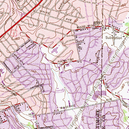 Topographic Map of Bethlehem Christian day School, MD