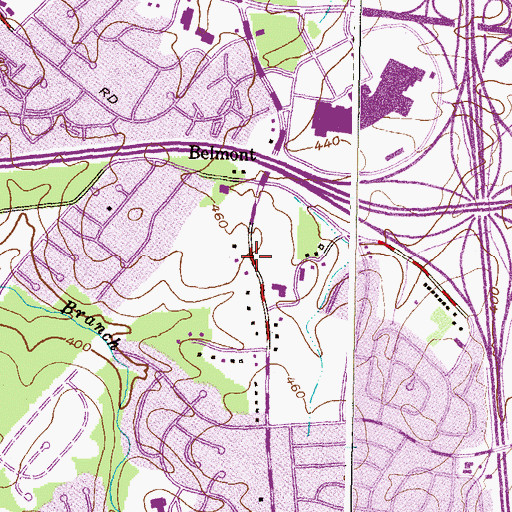 Topographic Map of Grace Bible Baptist Christian, MD
