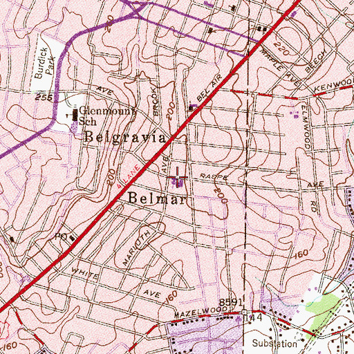 Topographic Map of City Neighbors Charter School, MD