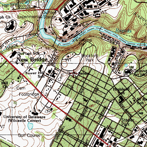 Topographic Map of Mount Salem Church, DE