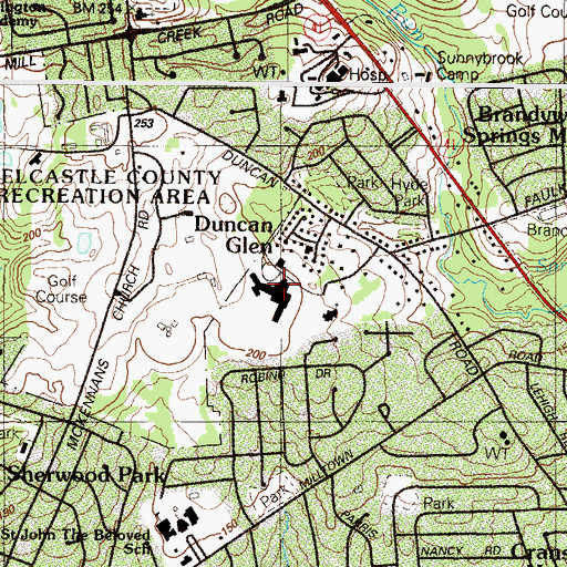 Topographic Map of Wilmington Junior Academy, DE