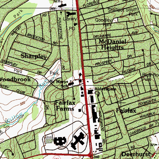 Topographic Map of Saint Mary Magdalen Catholic Church, DE