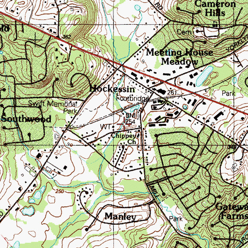 Topographic Map of Chippey Chapel Church, DE