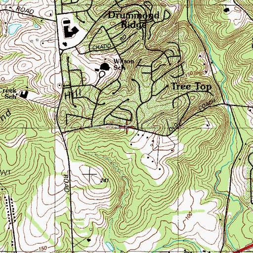 Topographic Map of Coach Hill, DE