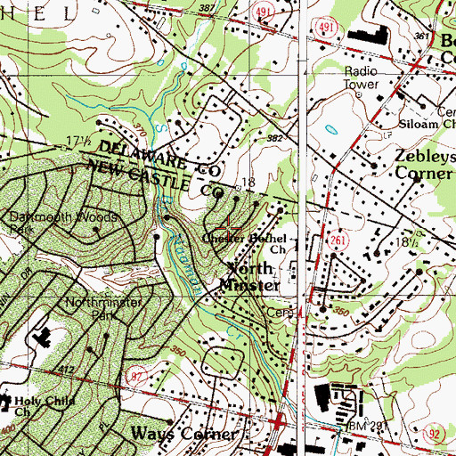 Topographic Map of Birch Knoll, DE