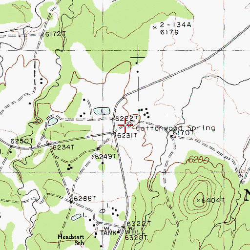 Topographic Map of Cottonwood Spring, AZ