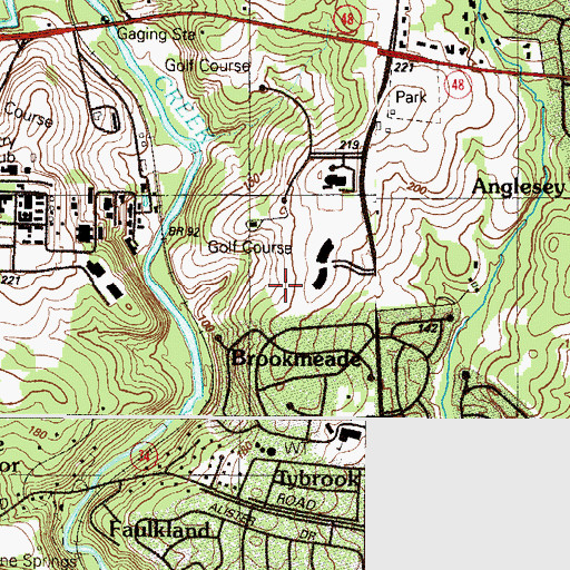 Topographic Map of Brookmeade, DE