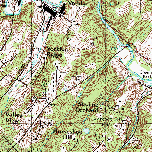 Topographic Map of Horseshoe Hill, DE