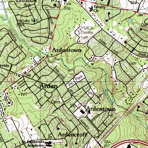 Topographic Map of Grubbs Corner, DE