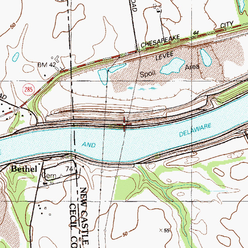 Topographic Map of Goose Point, DE