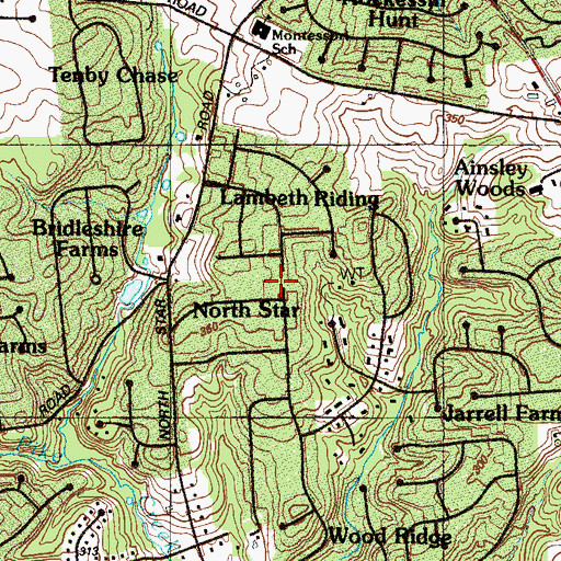 Topographic Map of North Star, DE