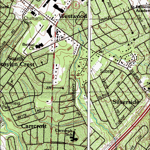 Topographic Map of Northwood, DE