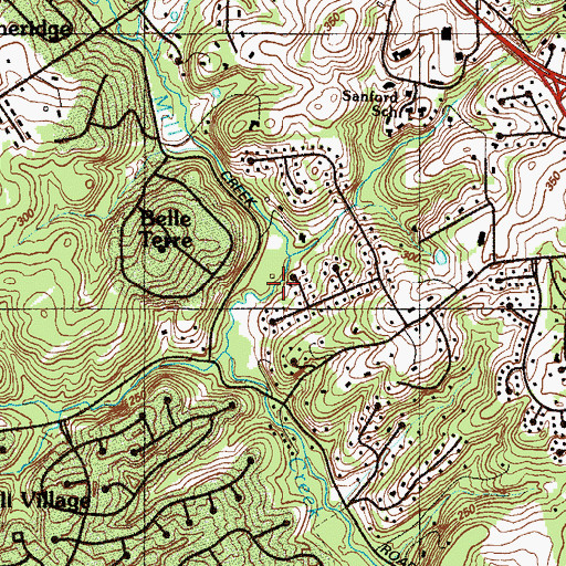 Topographic Map of Mill Creek Hundred, DE