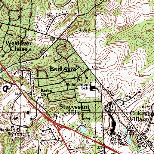 Topographic Map of Trepagnier, DE