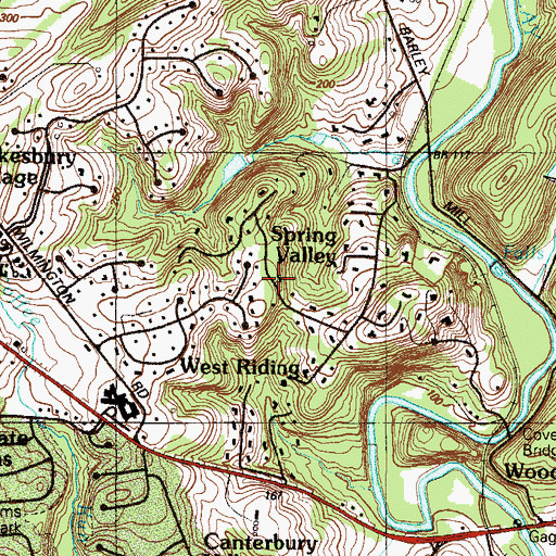Topographic Map of Spring Valley, DE