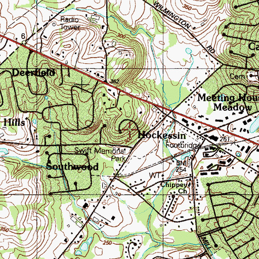 Topographic Map of Holly Knoll, DE