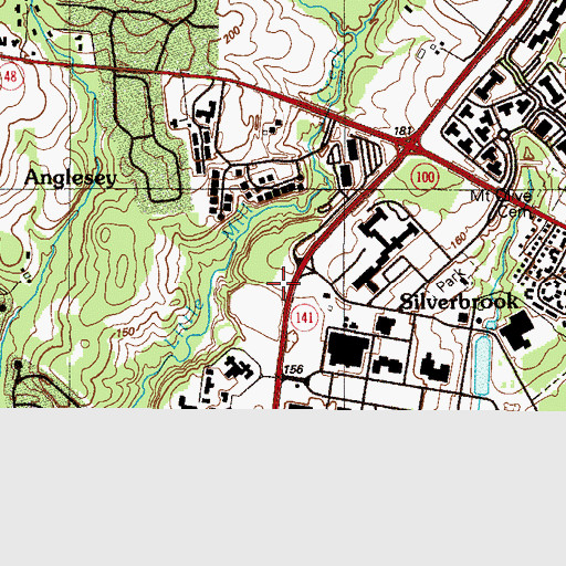 Topographic Map of New Castle County Detention Center, DE