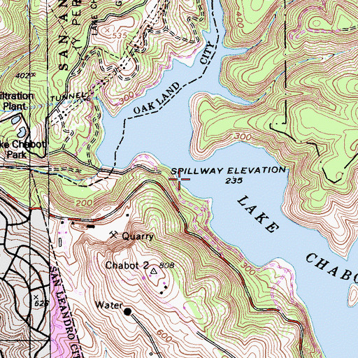 Lake Chabot, CA on contra loma map, caldwell map, las trampas map, diablo valley map, hartnell map, cull canyon map, santiago canyon map, quarry lakes map, allan hancock map, carroll map, frank's map, cal university map, los medanos map, berkeley city map, cosumnes river map,