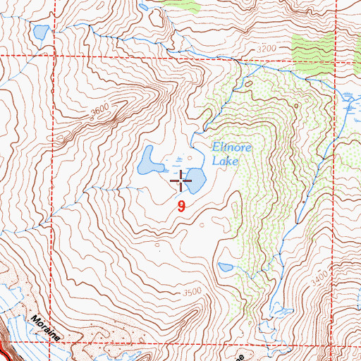 Topographic Map of Elinor Lake, CA