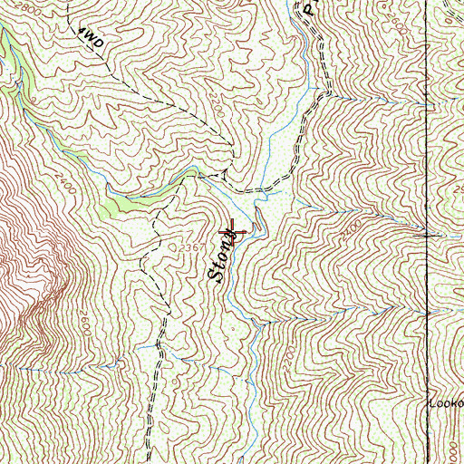 Topographic Map of Goulding Creek, CA