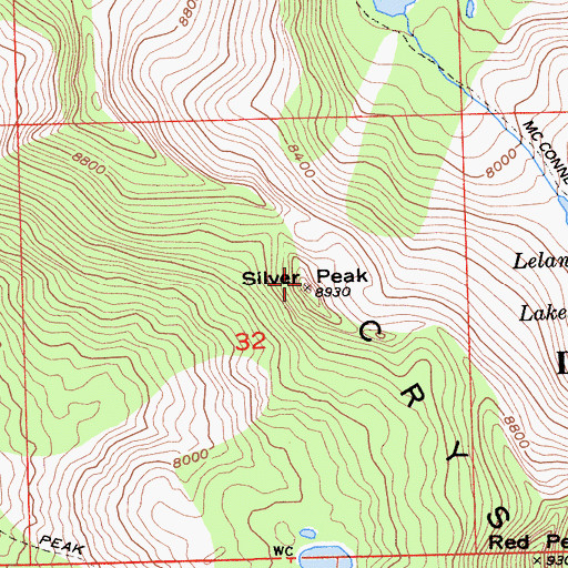 Topographic Map of Silver Peak, CA