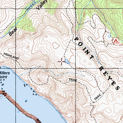 Topographic Map of Highland Trail, CA