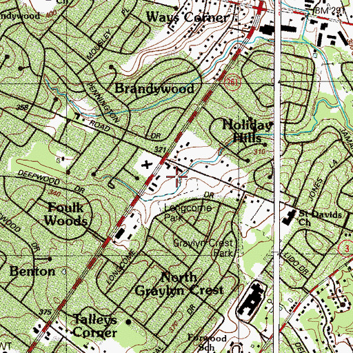 Topographic Map of Foulkwood Professional Building, DE