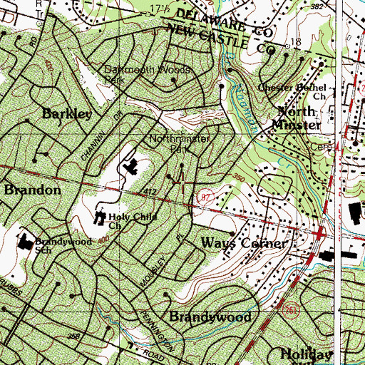 Topographic Map of Pennington Farm, DE