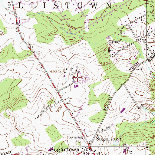 Topographic Map of Beneto Center Devereux Day School, PA