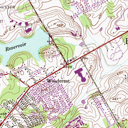 Topographic Map of Bible Baptist Cemetery, PA