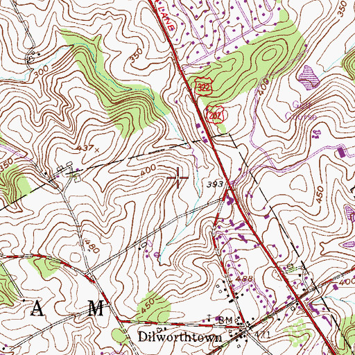 Topographic Map of Birmingham Hunt, PA