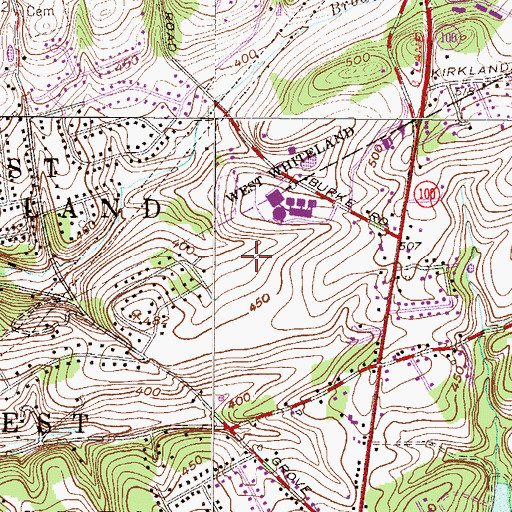 Topographic Map of Brandywine Hunt, PA
