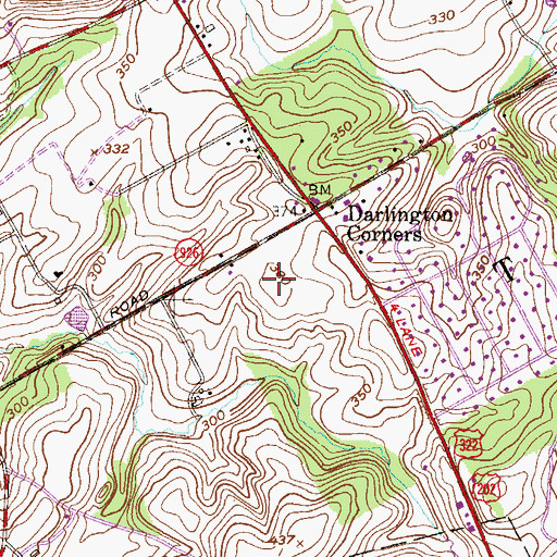 Topographic Map of Bridlewood Farm, PA