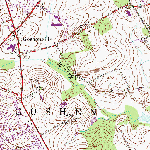 Topographic Map of Clock Tower Woods, PA