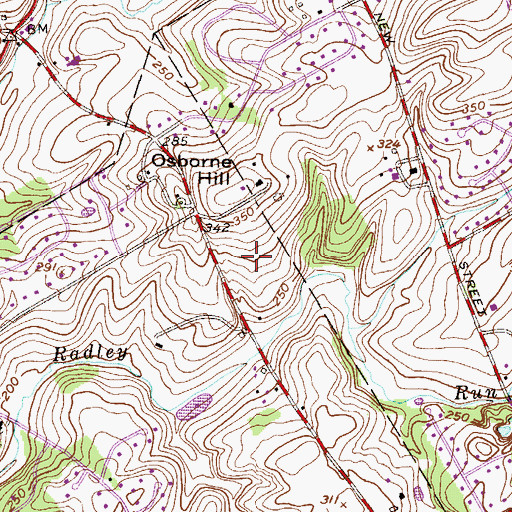 Topographic Map of Hamilton Place, PA